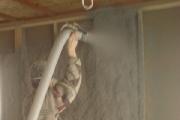 Влажноклеевое нанесение. Утепление каркасных стен. Г. В Новгород